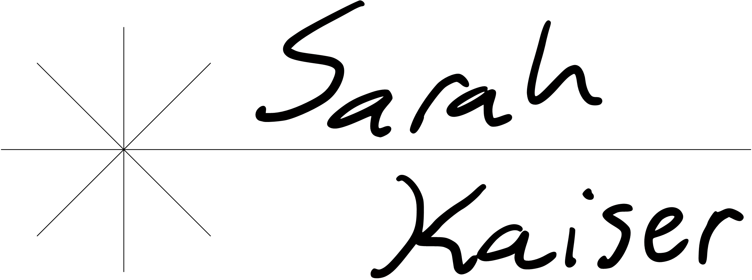 OneNote signature with straight lines